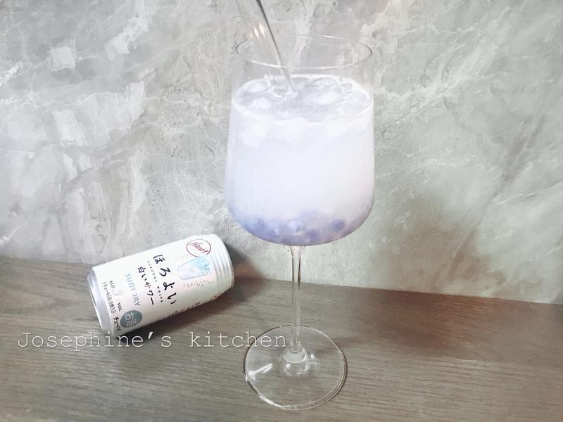 蝶豆花珍珠雞尾酒
