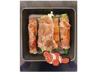 減脂便當🍱焗秋葵金菇豬肉卷