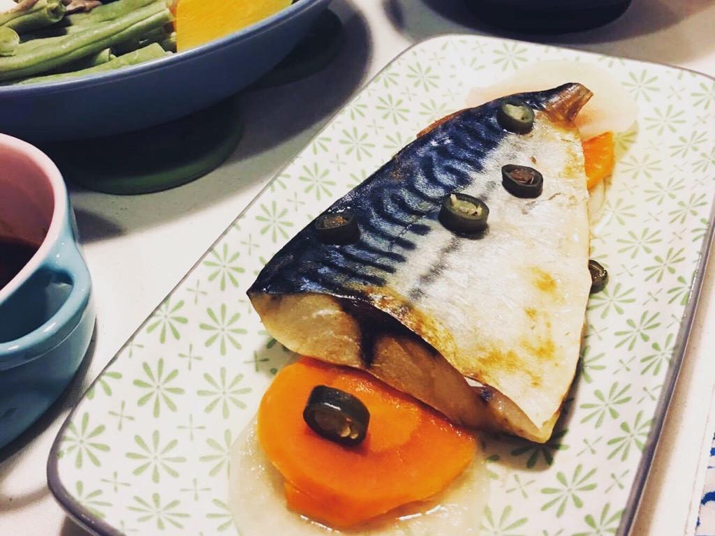 蒸的鹽漬鯖魚