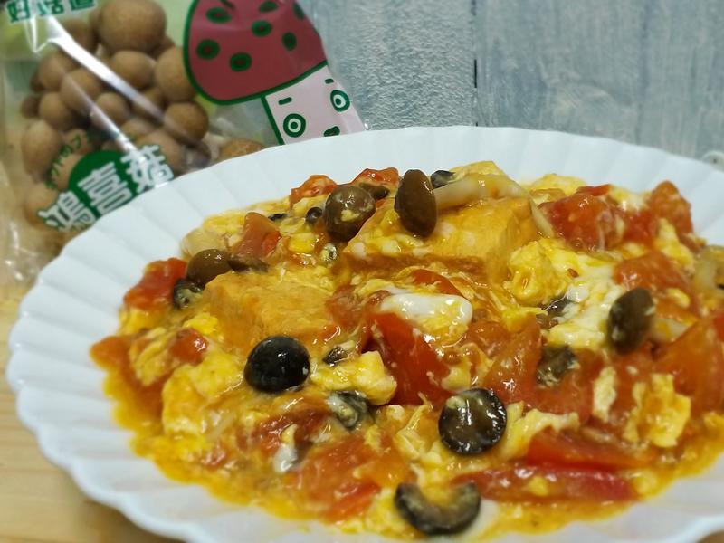 鴻喜菇蕃茄豆腐滑蛋【好菇道親子食光】低油