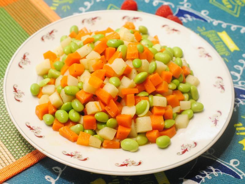 拌炒三色蔬菜