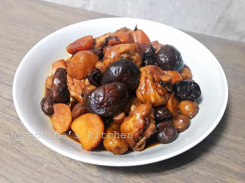 香菇栗子燒雞