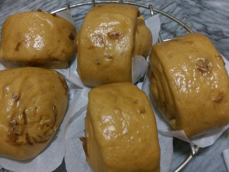 黑糖桂圓核桃饅頭