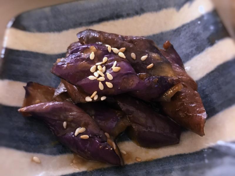 【日式副菜】芝麻味噌茄子 (微波爐使用)