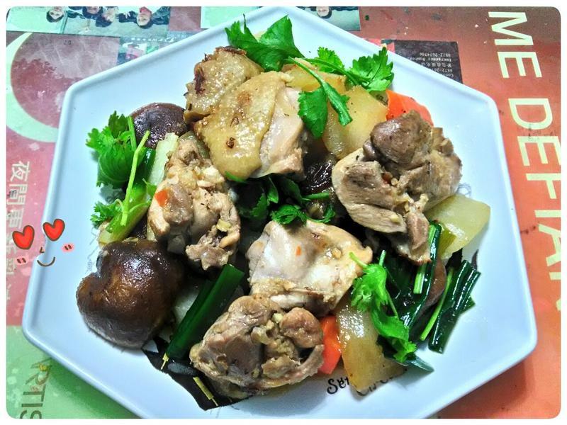 蘿蔔蔥燒嫩雞腿肉