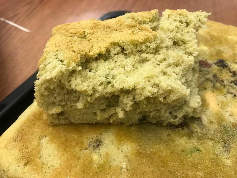 淡抹茶堅果海綿蛋糕