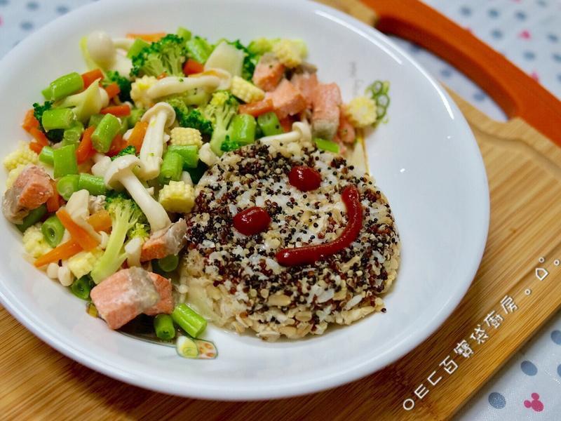 藜麥鮭魚營養微笑餐【好菇道親子食光】