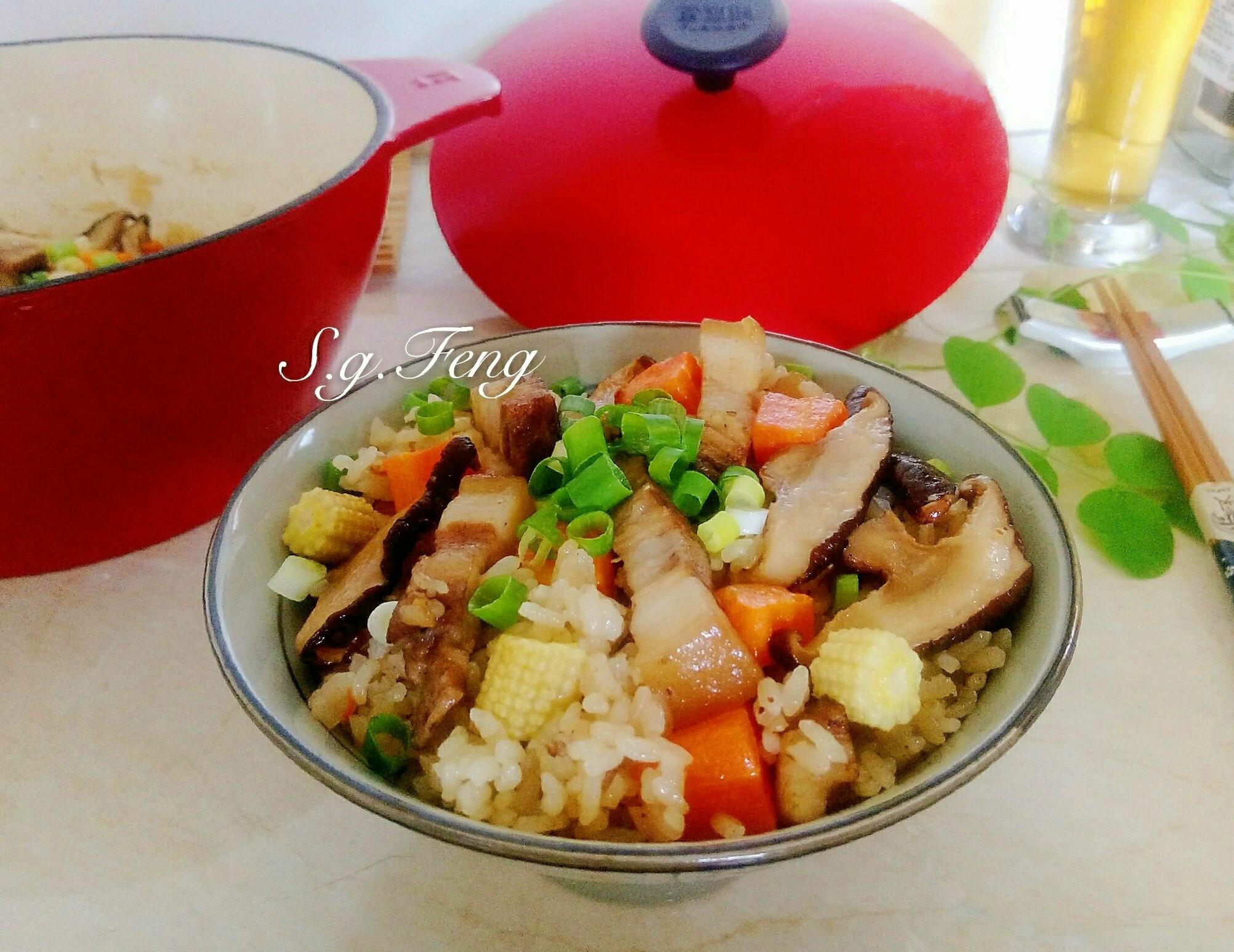 香菇鹹豬肉炊飯[鑄鐵鍋版]