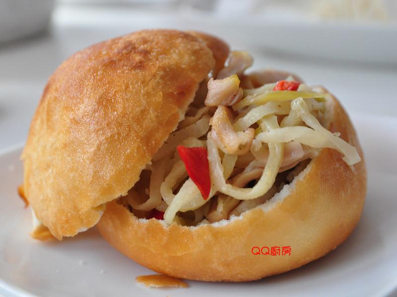 創意榨菜豬肚絲堡