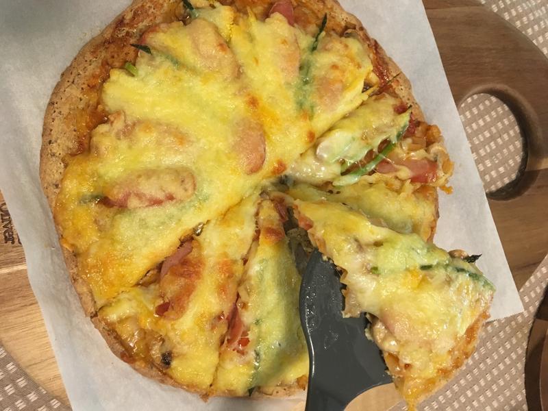 [生酮低醣]自製生酮pizza餅皮