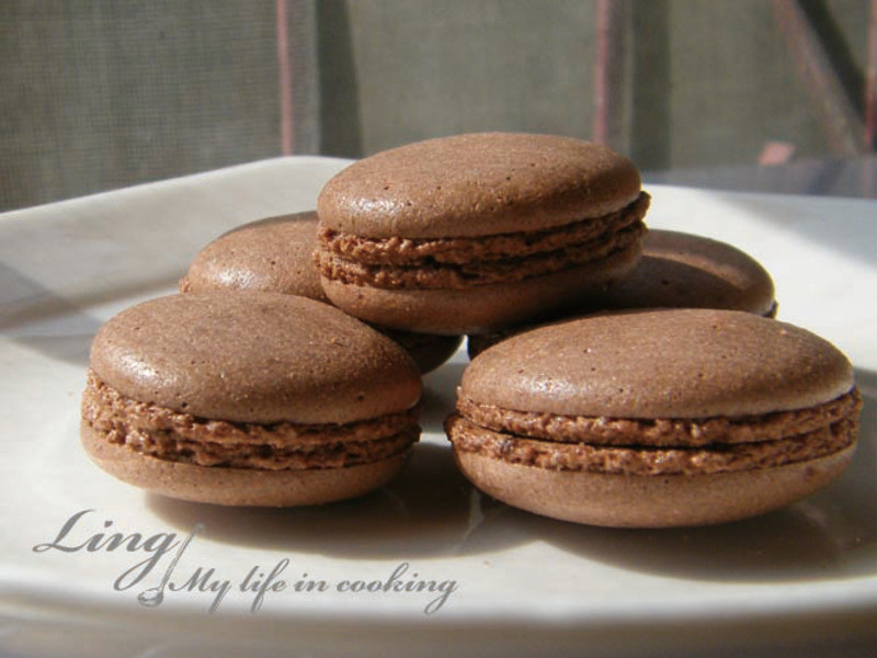 甜點♪ 巧克力馬卡龍 Chocolate Macaron