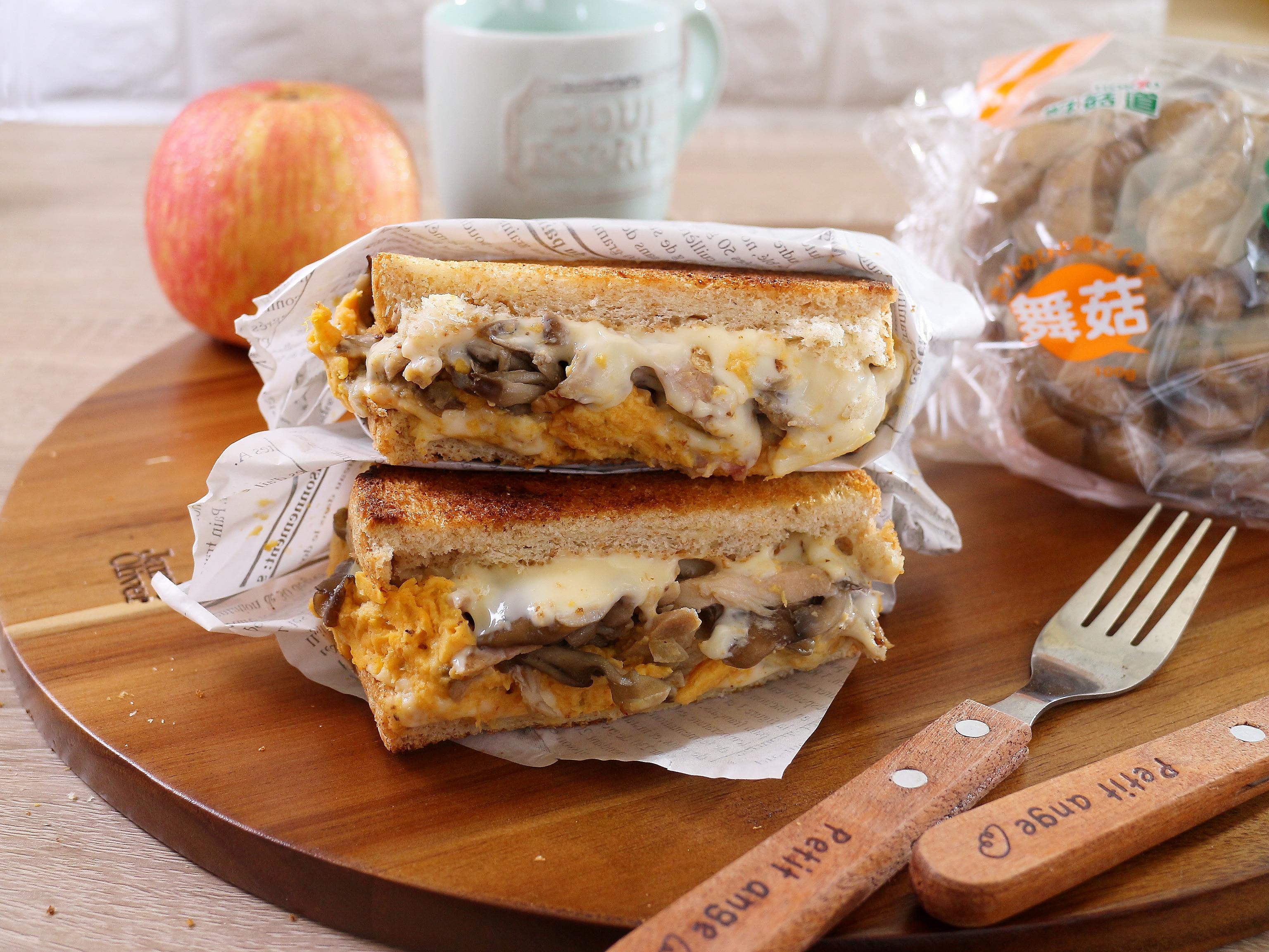 地瓜菇菇燻雞三明治
