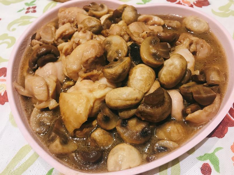 洋菇炒雞丁