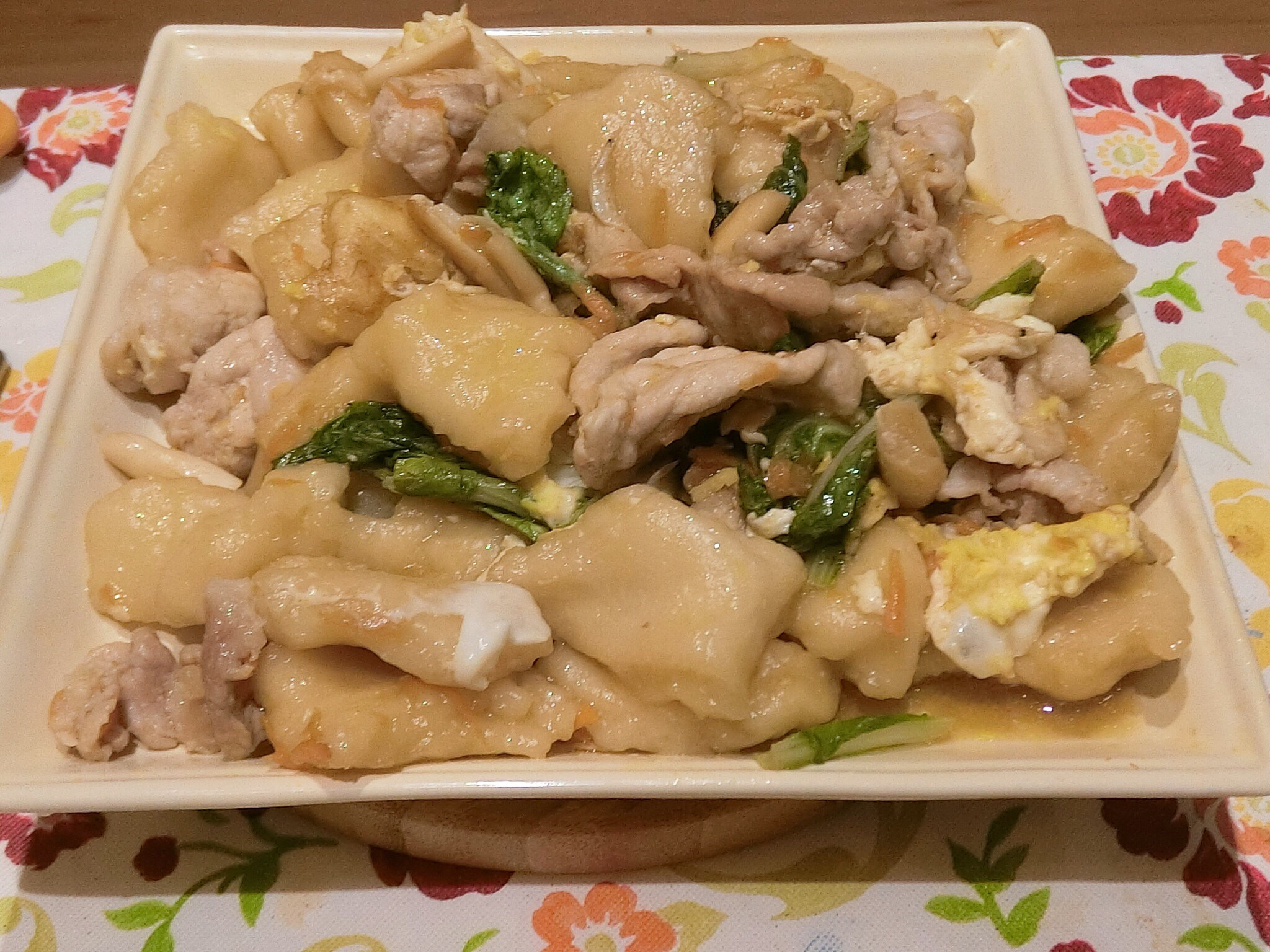 肉片炒麵疙瘩