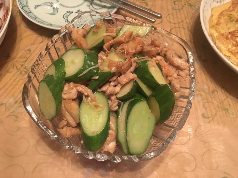 金針菇小黃瓜炒肉絲