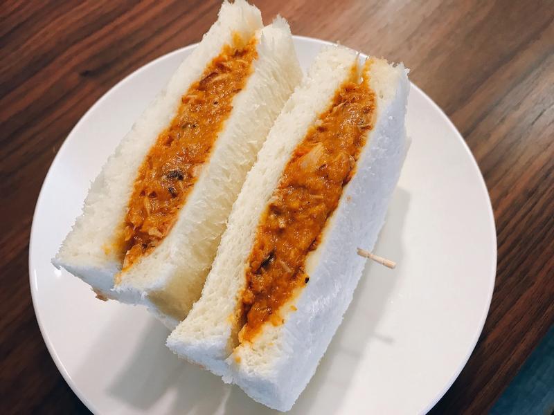 南瓜鯖魚三明治