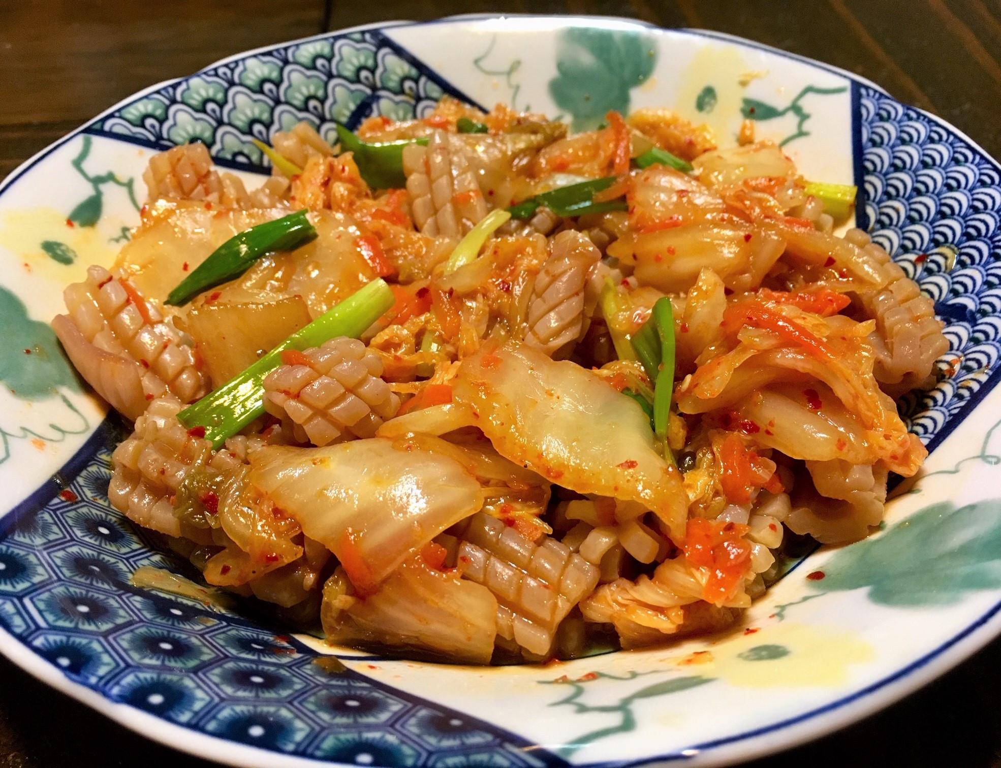 泡菜炒魷魚