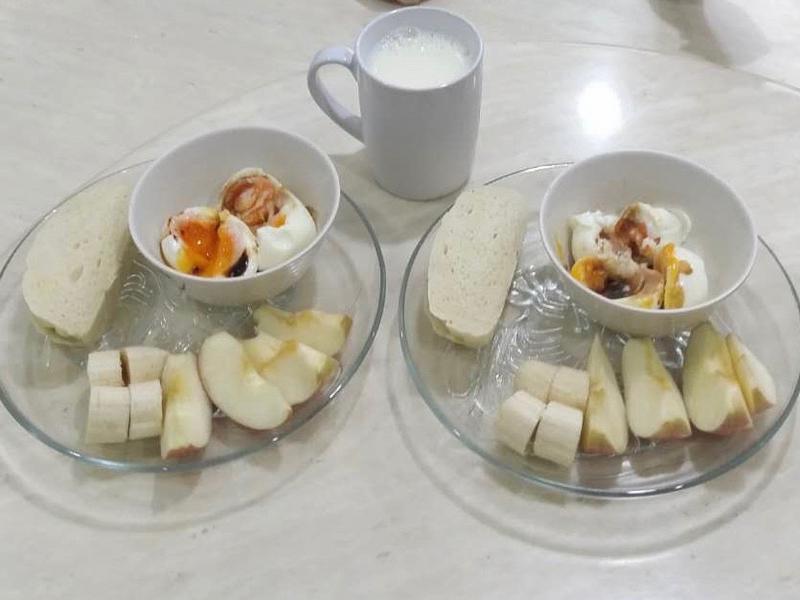鸡蛋牛奶早餐