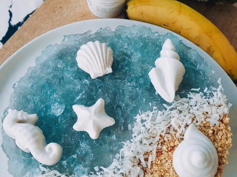 【免烤箱】夏日海灘蕉鳳冰淇淋蛋糕8吋