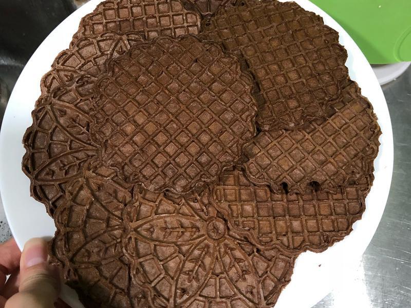 巧克力蕾絲餅