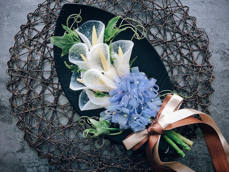 海芋繡球捧花沙拉