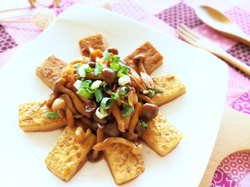 奶油雙菇醬燒豆腐【好菇道親子食光】