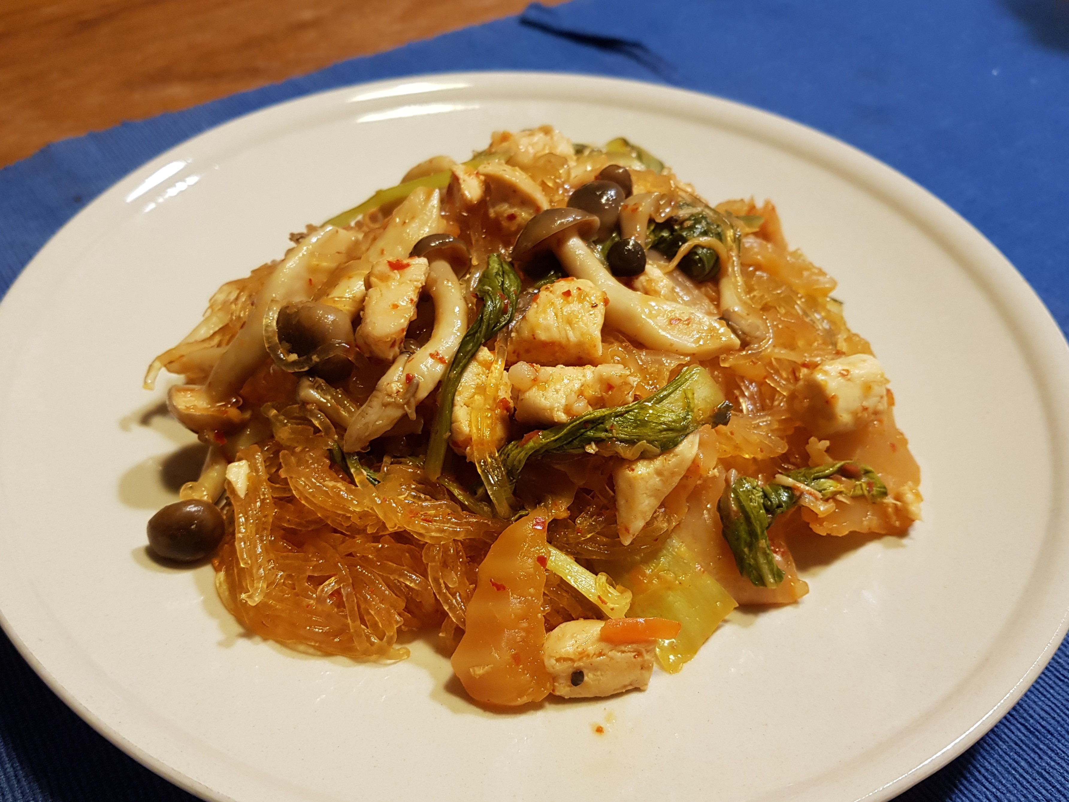 韓式泡菜雞肉炒冬粉