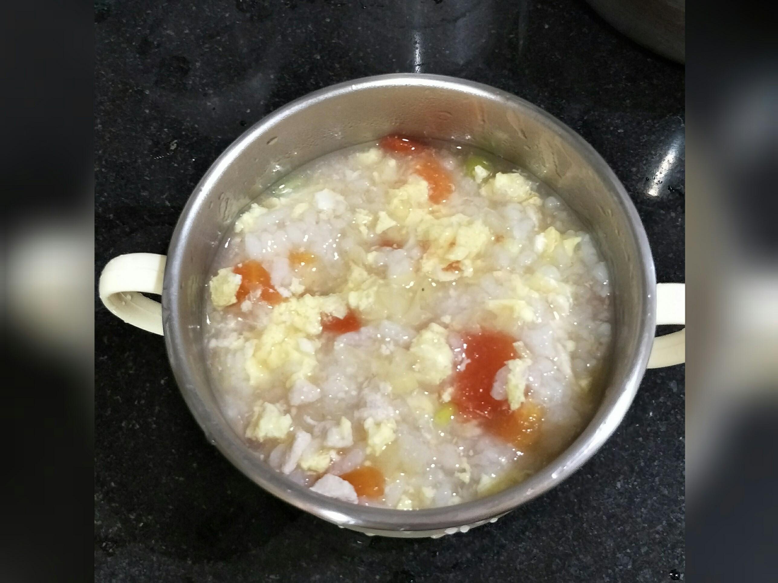 寶寶副食(9M)番茄雞肉豆腐粥