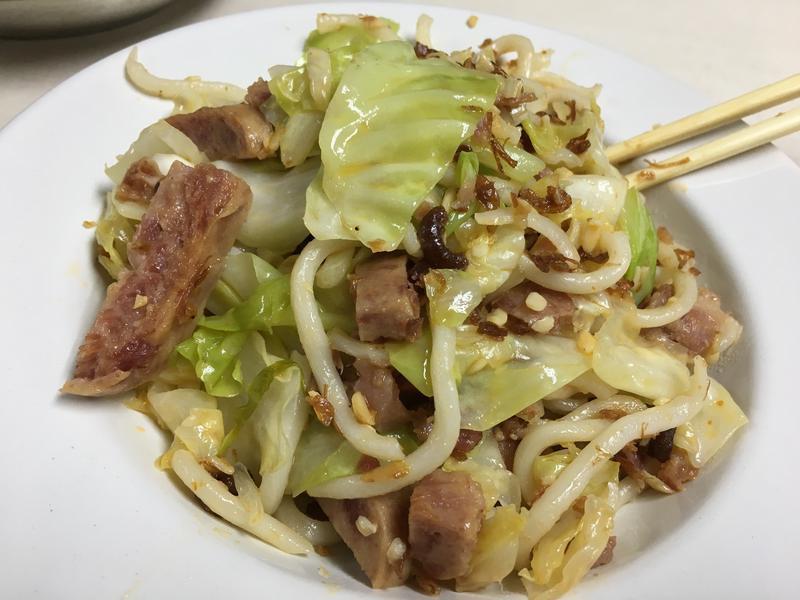 港式快餐:XO醬午餐肉炒烏冬
