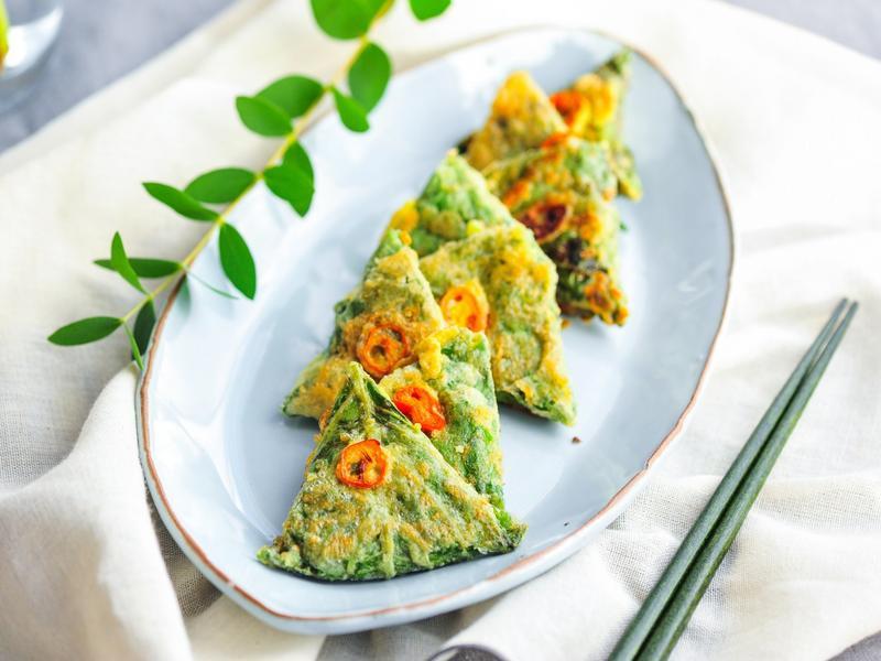 《韓國中秋食譜》 芝麻葉煎餅 깻잎전