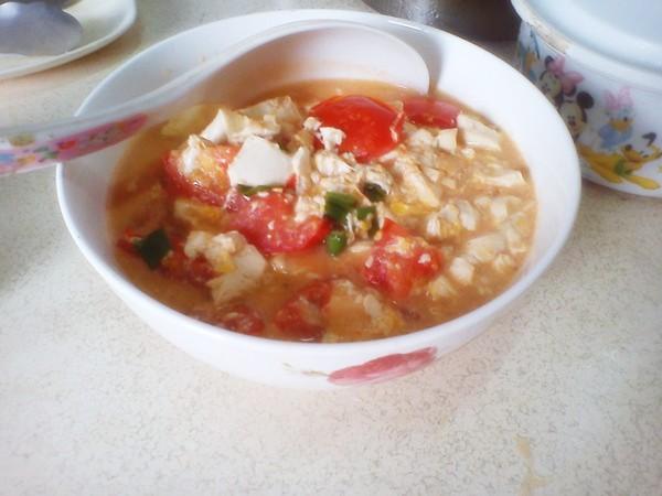 滑順入口的蕃茄豆腐炒蛋[趁熱品嚐]