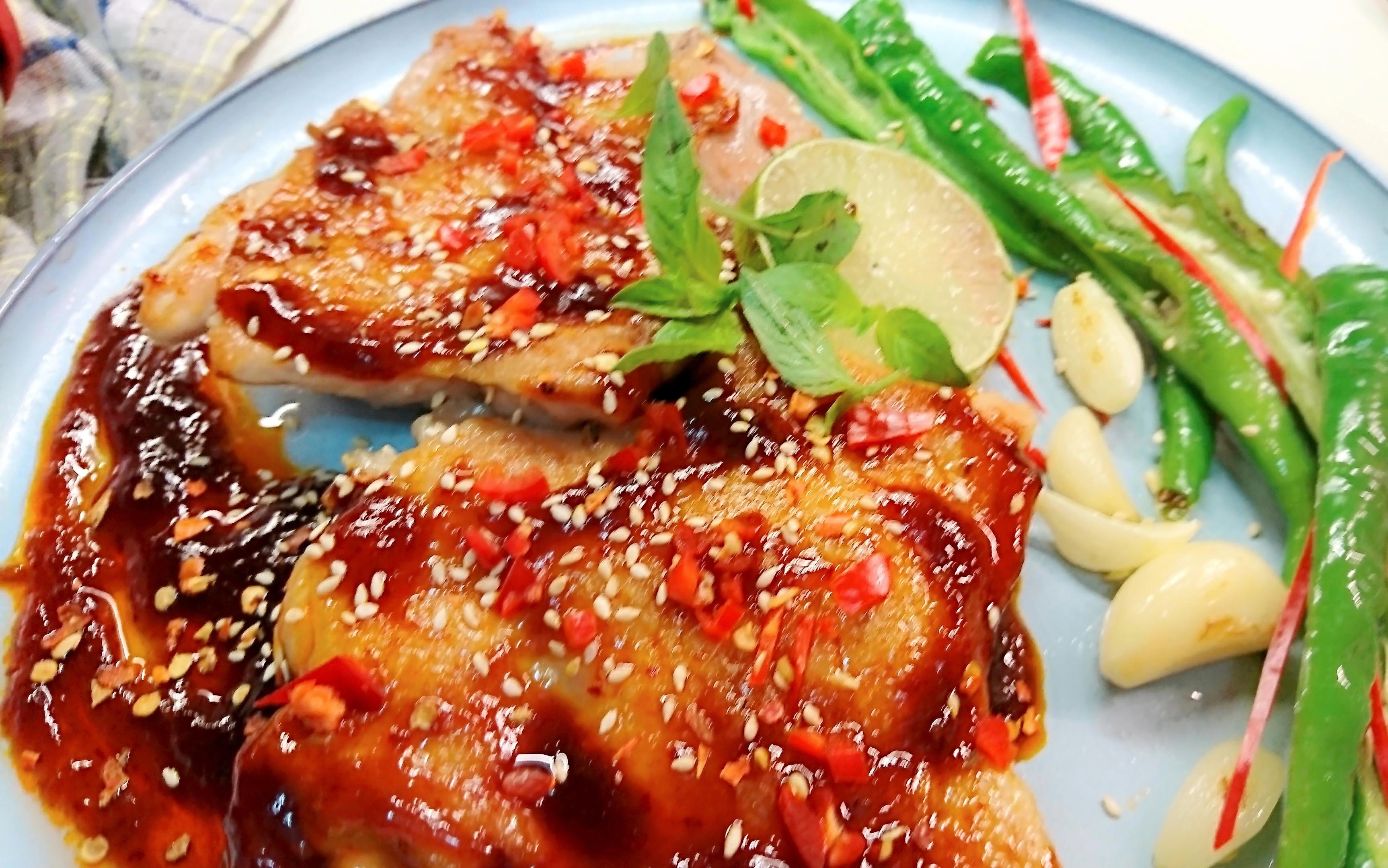 韓式辣味烤檸檬雞