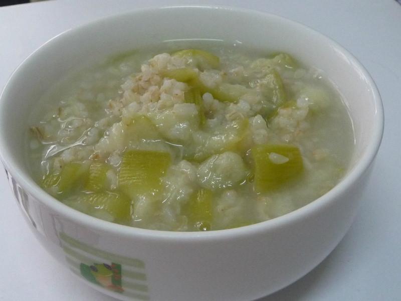菲個人煮義~薑汁絲瓜糙米粥
