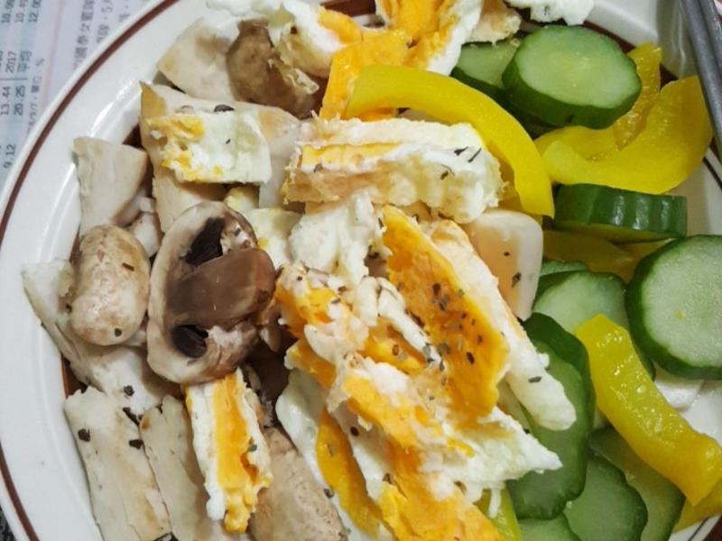 低卡雞胸肉與水煮熟菜~