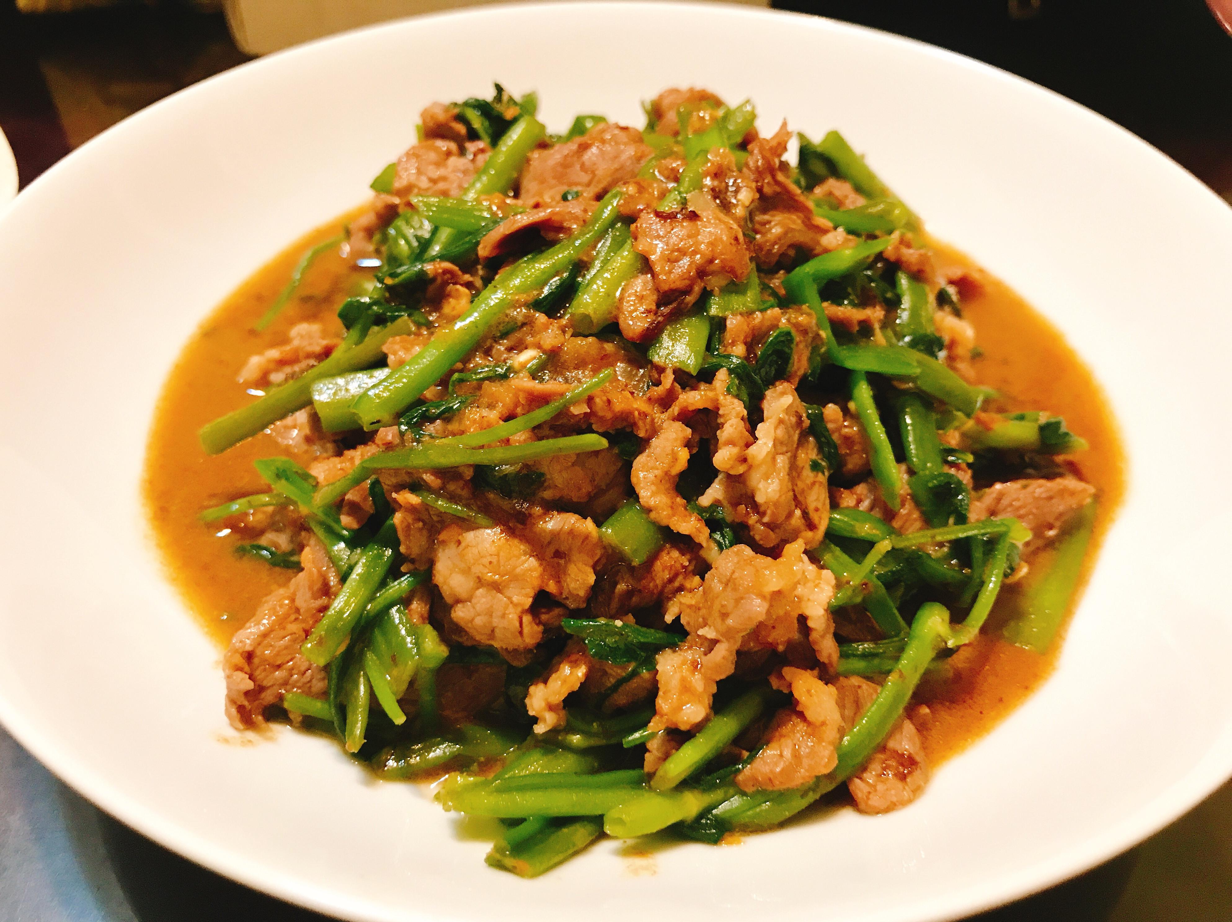 沙茶牛肉空心菜🐂