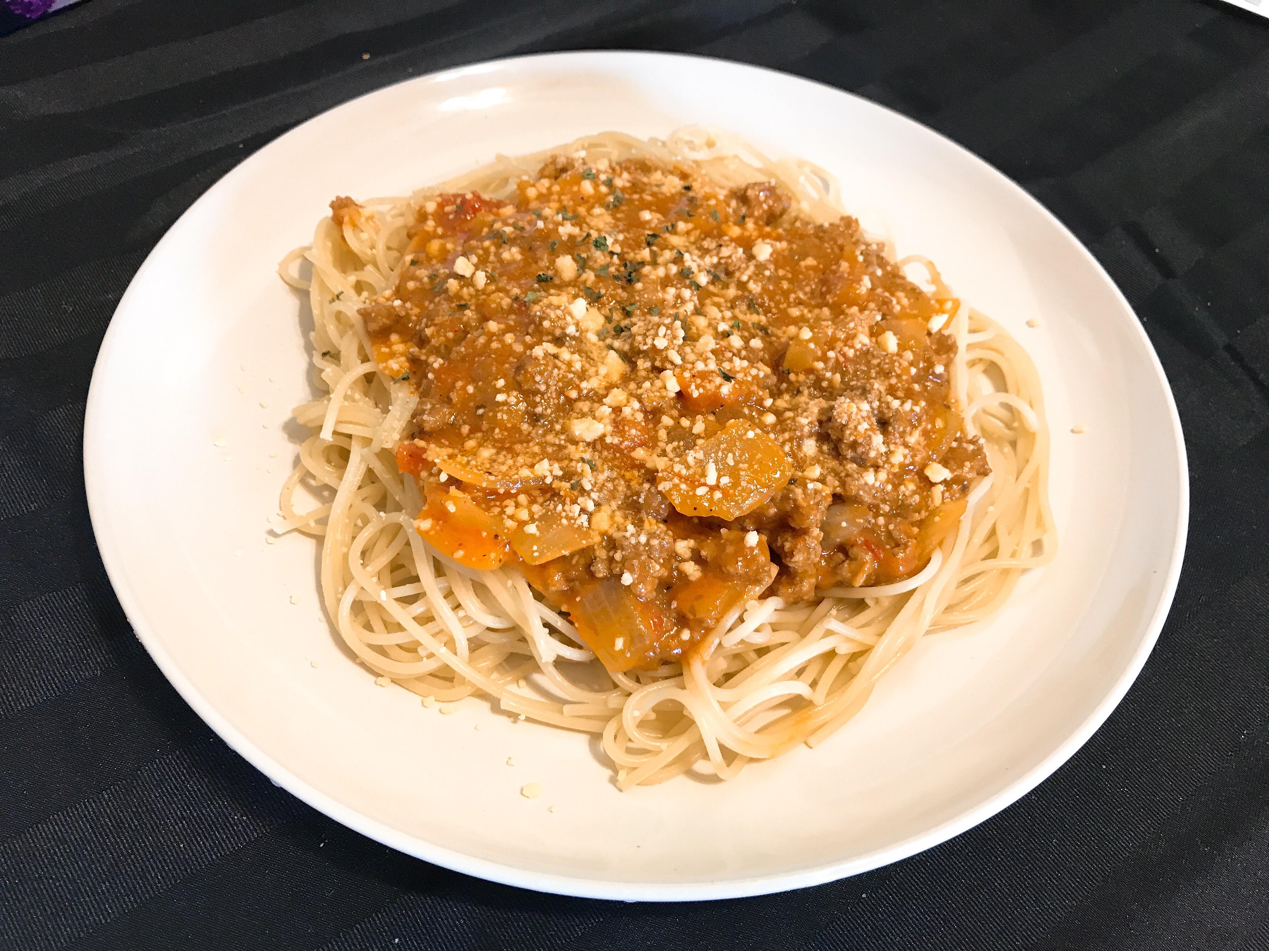 起司肉醬義大利麵(雙醬:蕃茄+起司醬)