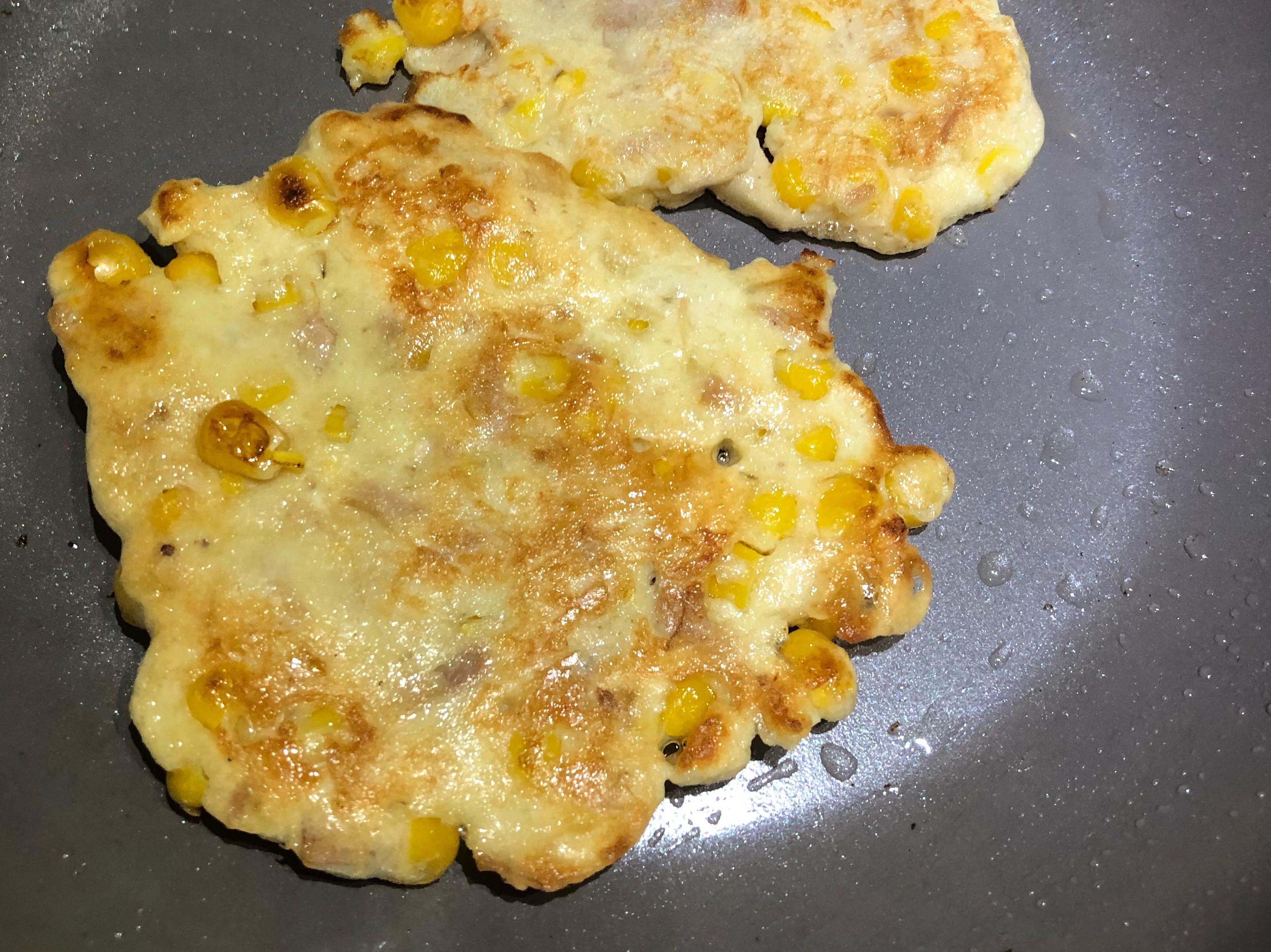 小點心👉🏻玉米鮪魚蛋餅 超簡單