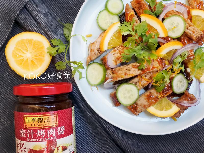 香橙蜜汁嫩煎豬排(李錦記蜜汁烤肉醬)