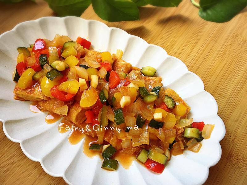糖醋茄汁豆包(便當菜)