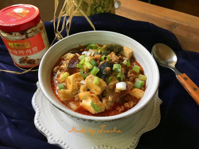 麻辣肉末皮蛋豆腐