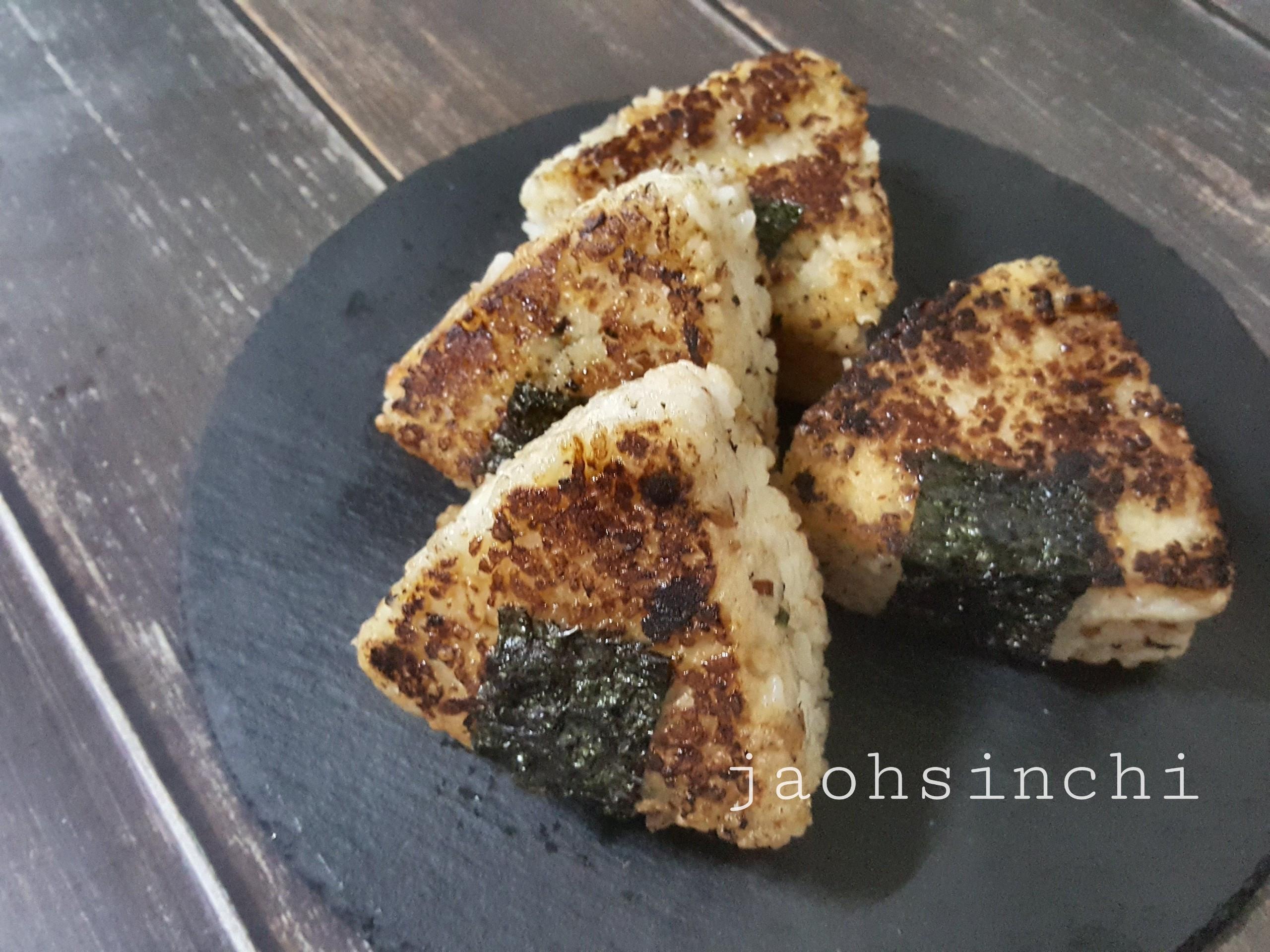 🍙【日式味增鮭魚奶油燒飯糰】🍙
