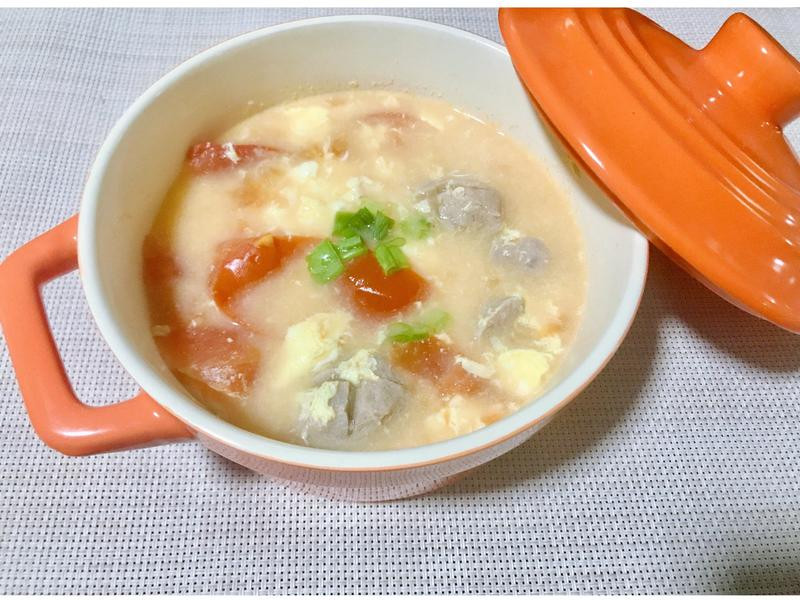 蕃茄蛋花貢丸湯🍅