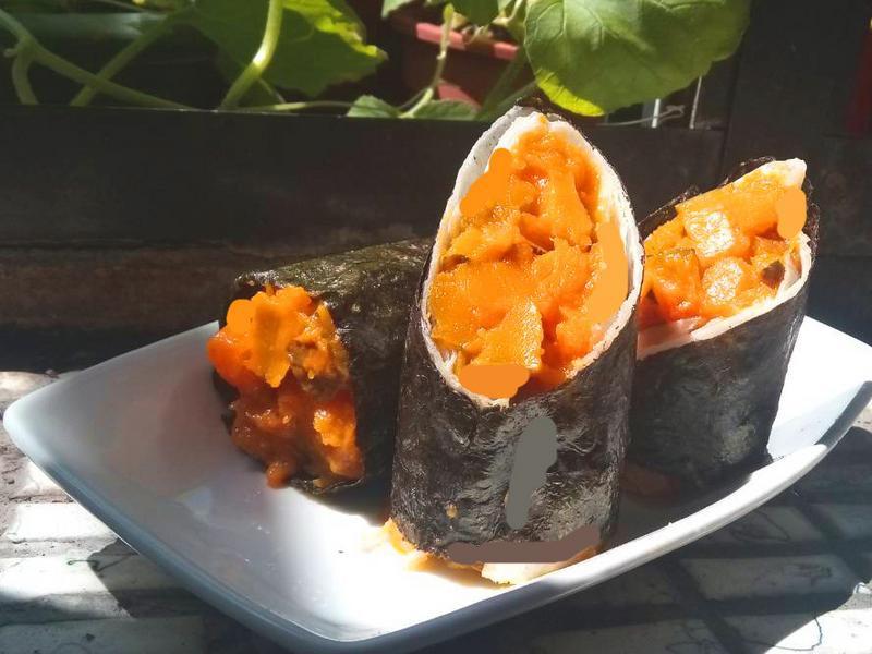 南瓜鮮菇海苔壽司捲