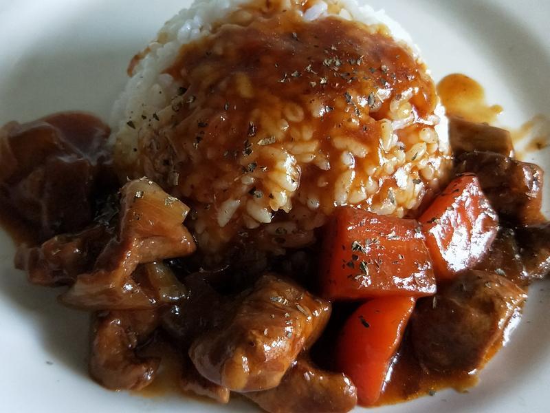 紅燒豬肉燴飯