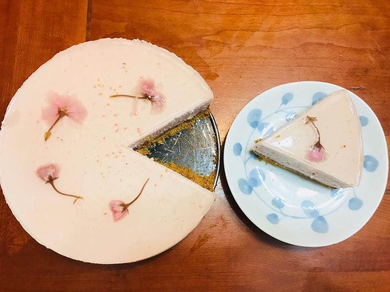 幸福網美:免烤櫻花起司蛋糕