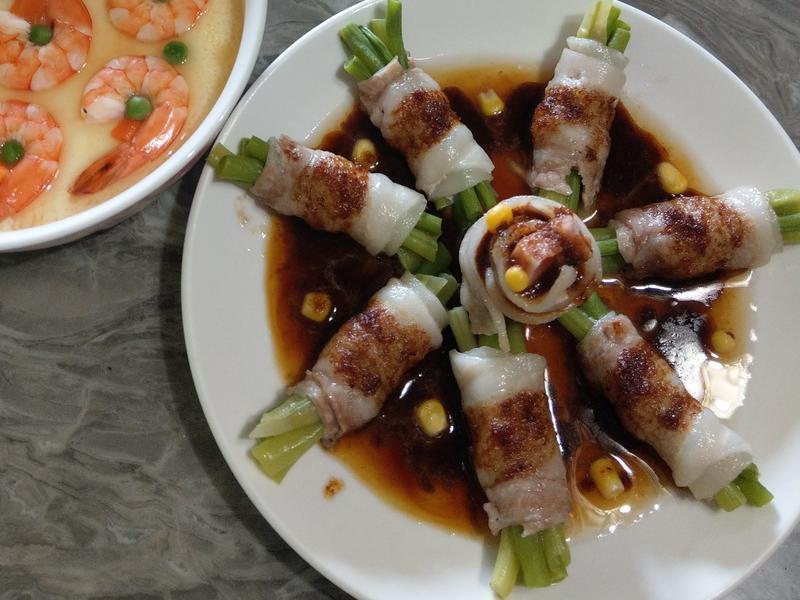 四季豆豬肉卷