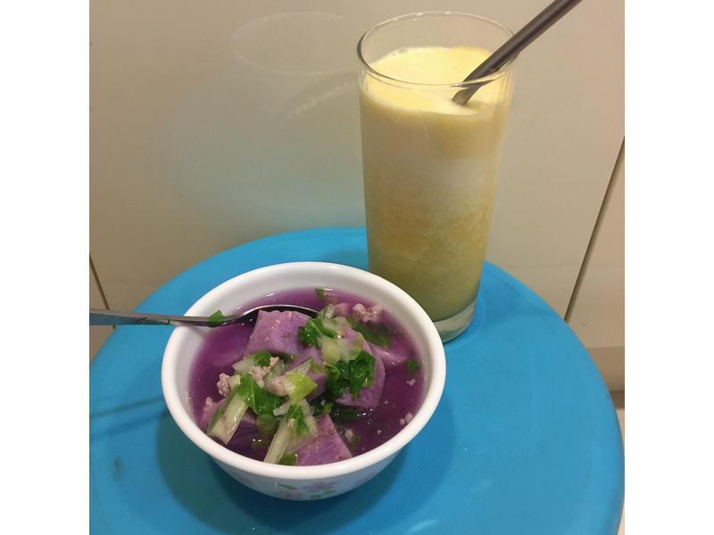 山藥絞肉白菜湯(療癒紫色系