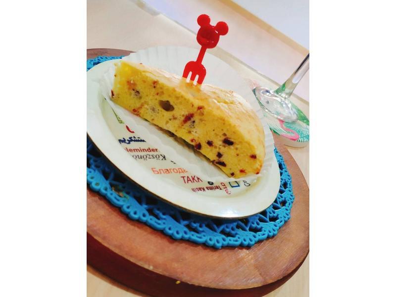 蔓越莓蒸蛋糕[高小姐食堂]