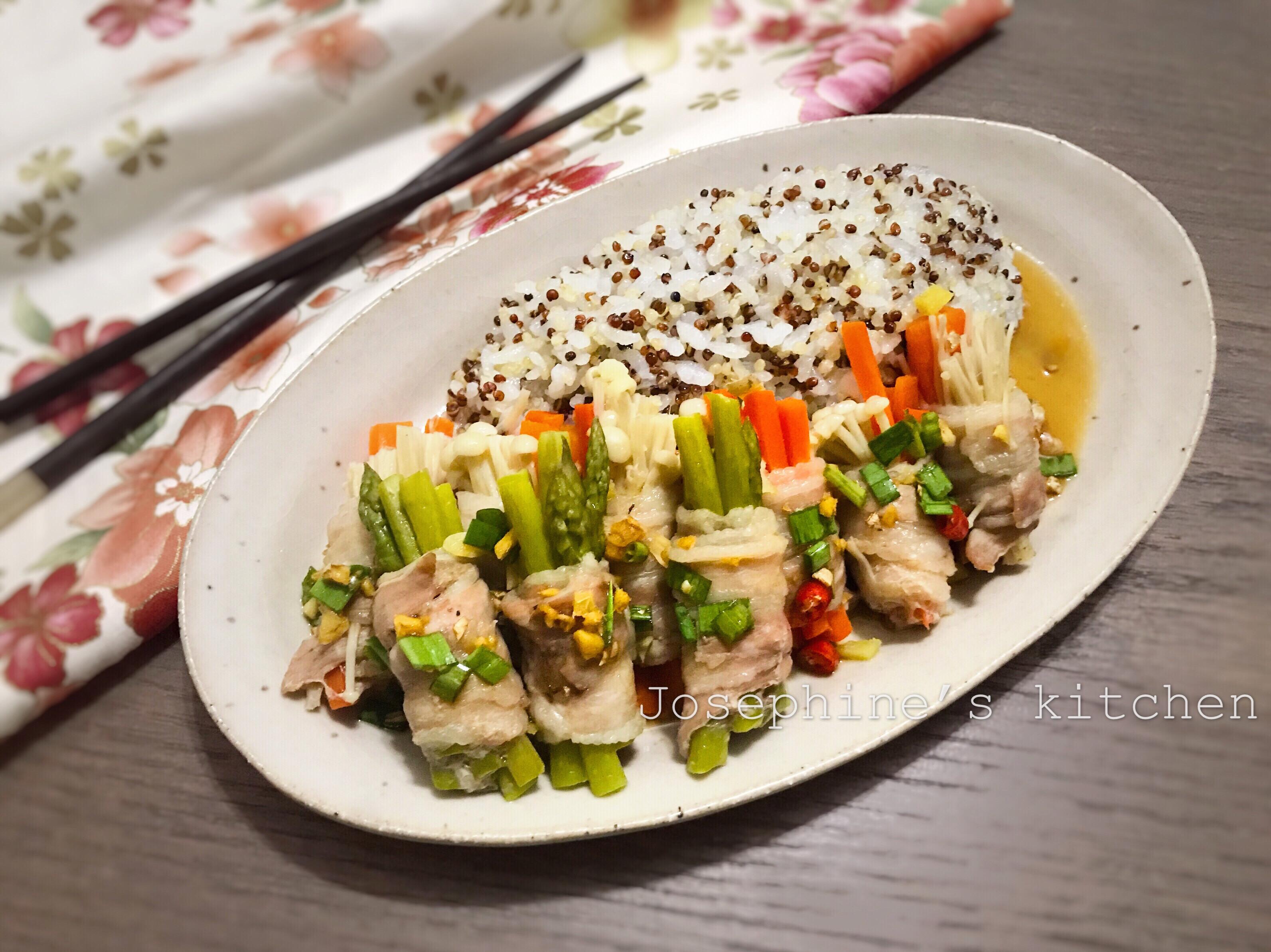 藜麥米蒸豬肉捲(電鍋料理)