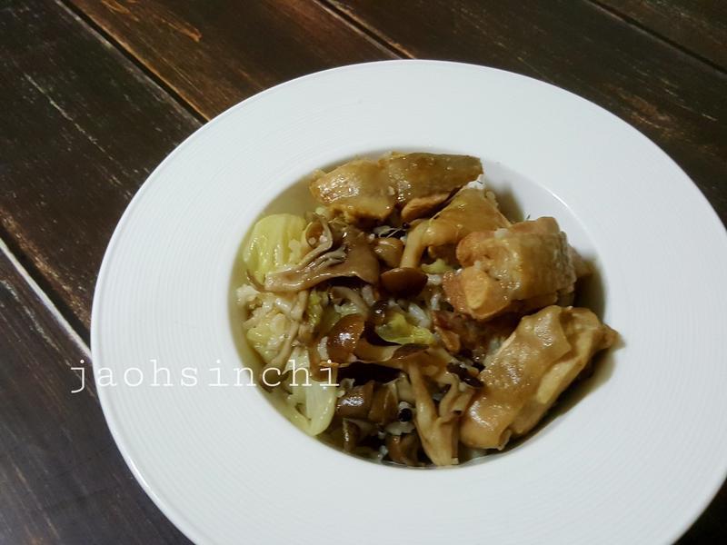 🍄麻油菇菇雞炊飯🐣